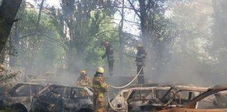 У Києві на  штрафмайданчику згоріло понад 50 автомобілів - today.ua