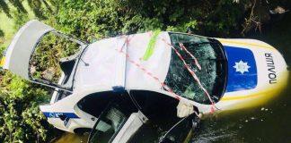 Під Києвом авто поліції під час погоні упало в річку - today.ua