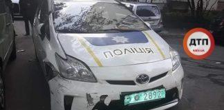 Патрульный в Киеве заснул за рулем и разбил пять автомобилей - today.ua