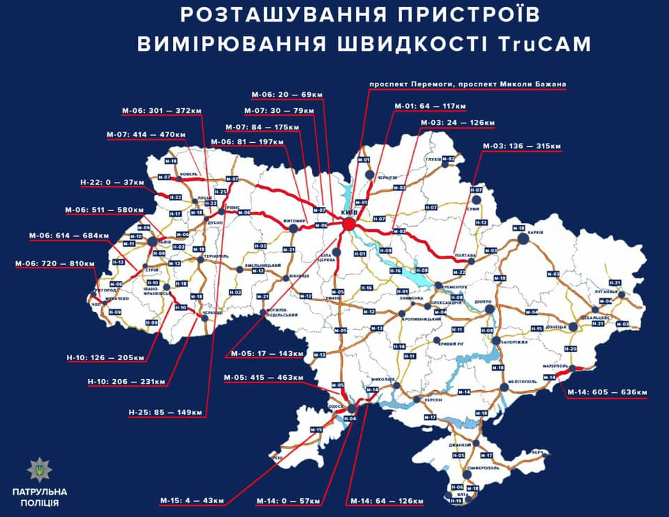 В Украине начали штрафовать за превышение скорости: что нужно знать