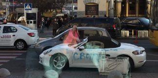 Раскрыта личность блондинки, которая изрубила топором Porsche в центре Киева - today.ua