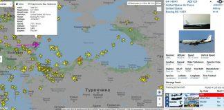 К берегам оккупированного Крыма направляется военный самолет США - today.ua