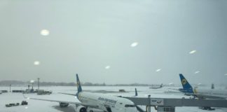 """Через снігопад аеропорт """"Бориспіль"""" переносить рейси - today.ua"""