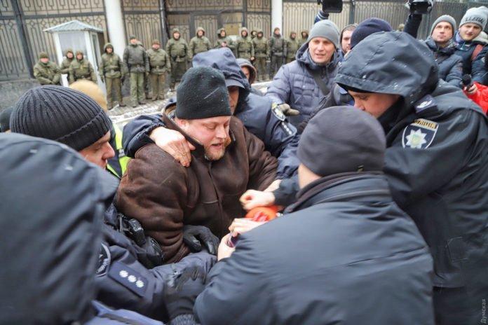 В Одессе полиция разогнала митинг в поддержку военнопленных украинских моряков - today.ua