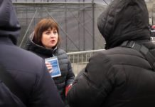 Силовики применили силу к журналистке регионального телеканала во время выступления Порошенко - today.ua