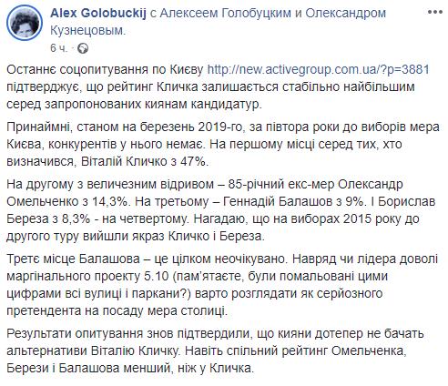 """Віталій Кличко став лідером рейтинга і """"антирейтинга"""" на посаду мера Києва"""
