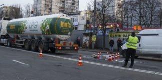 В Киеве бензовоз сбил пешехода - today.ua