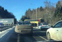 Автобус з українцями зіткнувся з фурою під Москвою: опубліковані фото - today.ua