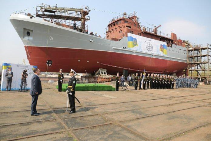 В Украине спустили на воду средний разведывательный корабль ВМС ВСУ - today.ua