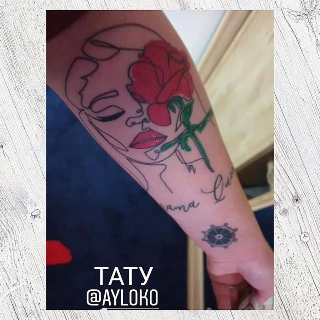 Тіна Кароль показала нове татуювання зі своїм зображенням