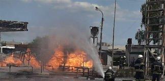 У Житомирі масштабна пожежа охопила АЗС: є постраждалі - today.ua