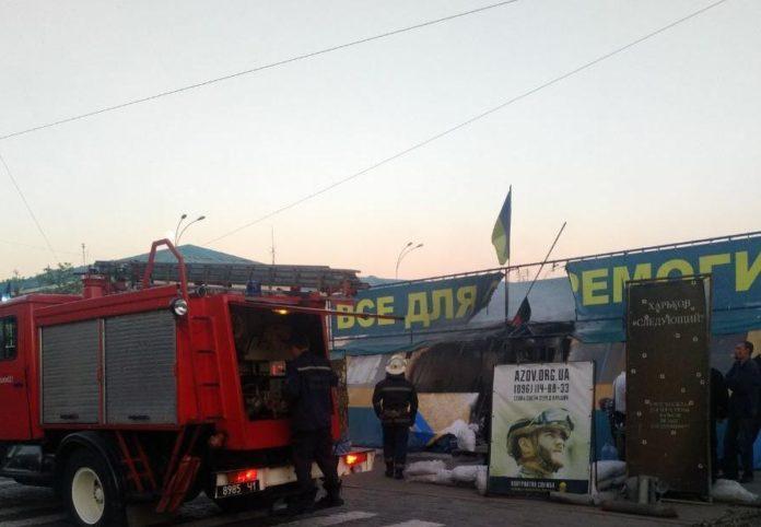 В Харькове задержали мужчину, который поджег волонтерскую палатку - today.ua