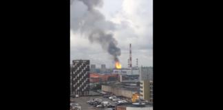 """Под Москвой горит электростанция: опубликованы шокирующие видео"""" - today.ua"""