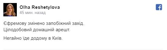 """""""Регіонал"""" Єфремов вийшов на свободу"""