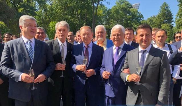 П'ять президентів України вперше позували разом - today.ua