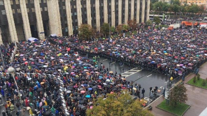 """&quotДосить нас залякувати!"""": Мітинг у Москві набирає обертів (відео) - today.ua"""