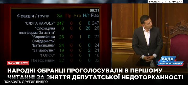 Депутатська недоторканність: Верховна Рада зробила перший історичний крок