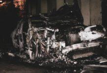 У Києві підпалили автомобіль сина Гонтаревої: з'явилося фото - today.ua