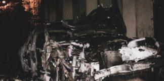 В Киеве подожгли автомобиль сына Гонтаревой: появилось фото - today.ua