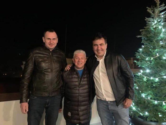 Саакашвили переехал в Одессу: на новоселье пришел Сенцов - today.ua