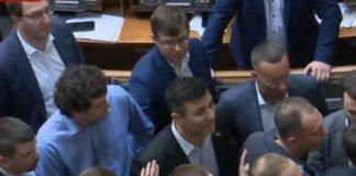 Первая драка: в Раде произошли столкновения между Тищенко и нардепом от ОПЗЖ - today.ua
