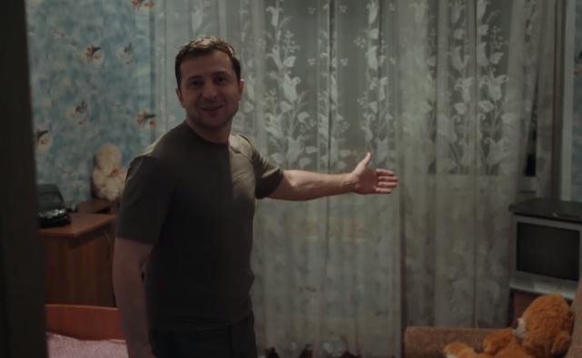 Появилось видео, как Зеленский ночевал в Золотом на Донбассе