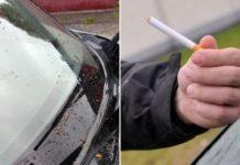Як звичайна цигарка зробить чистим лобове скло автомобіля - today.ua