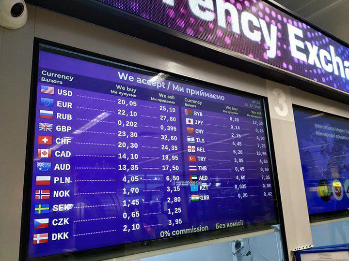 Курс долара в аеропорту Бориспіль шокував навіть найдосвідченіших туристів