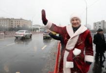 Кличко на квадроцикле в костюме Деда Мороза открыл Шулявский мост - today.ua