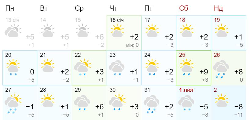 Потепление до +9: прогноз погоды на конец января от синоптиков Гисметео