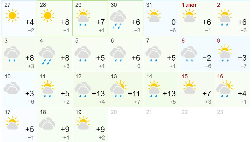 Потепління до +15: синоптики шокували прогнозом погоди на лютий
