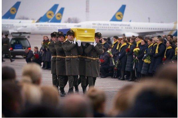 У Борисполі прощалися з українцями, загиблими в авіакатастрофі на території Ірану