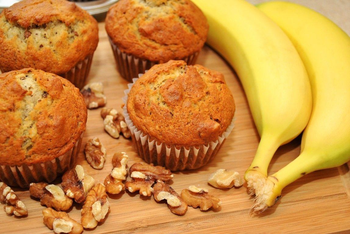 Бананові мафіни – рецепт ніжних кексів нашвидкуруч