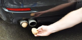 Картофель в выхлопной трубе автомобиля – эксперимент показал, что произойдет - today.ua