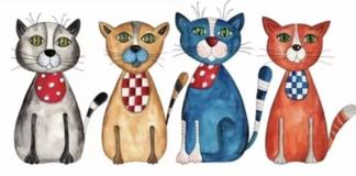 """Тест на уважність: знайдіть на малюнку 3 відмінності між котами"""" - today.ua"""