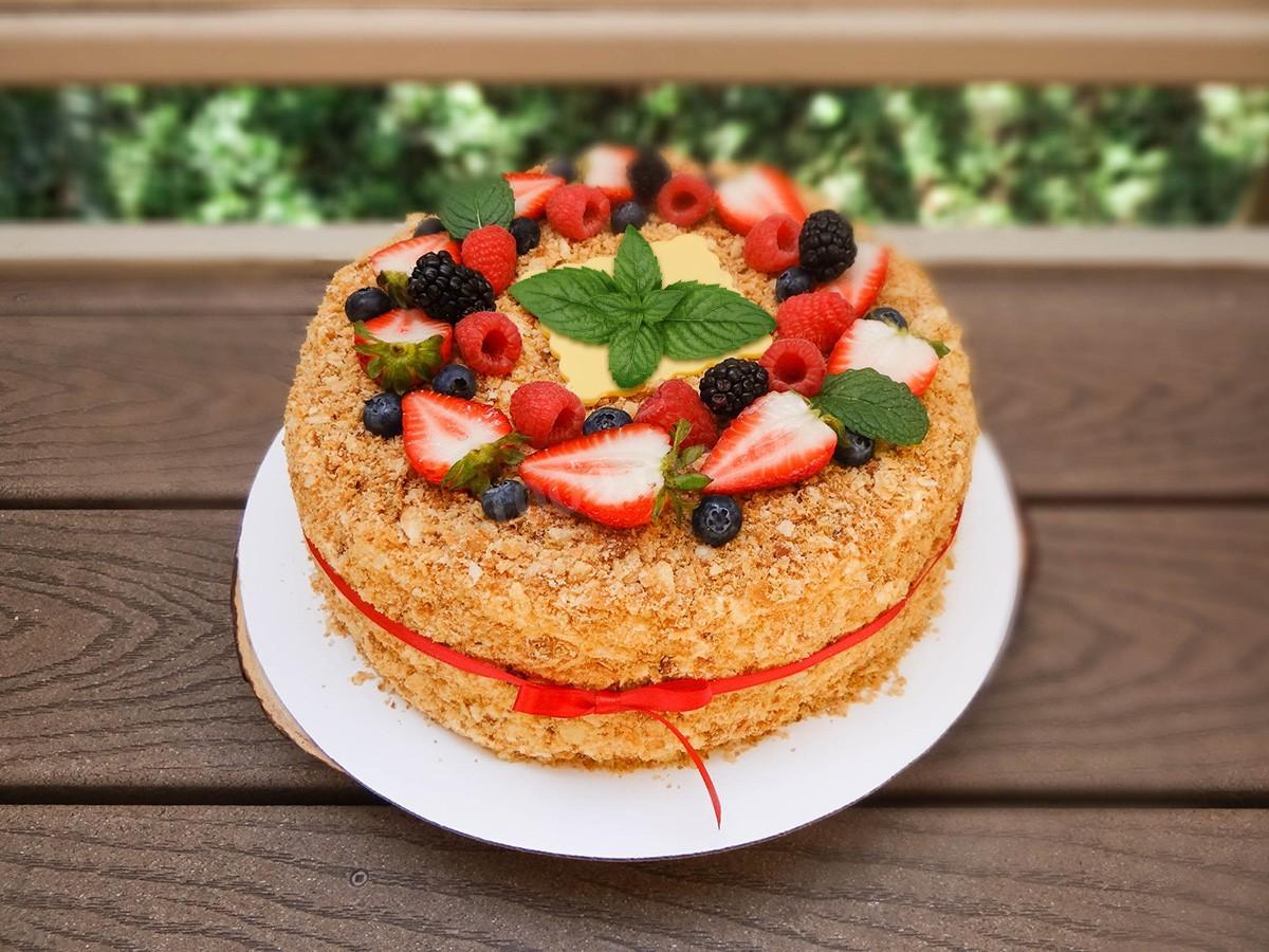 большинство бань торт медовик украсить фруктами фото итогам