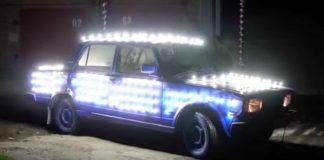 """Фары не нужны: В кузов «Жигулей» установили 300 светодиодов"""" - today.ua"""