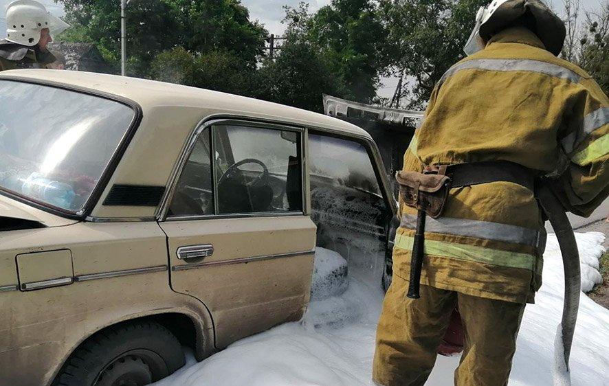 На Полтавщине загорелся ВАЗ-21061 - today.ua