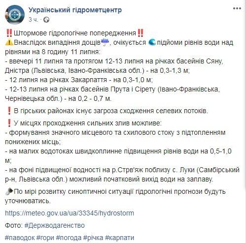 Щойно прийшло штормове попередження від Гідрометцентру: на західну Україну знову насувається лихо