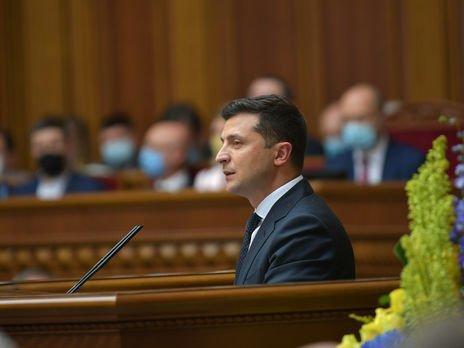 Зеленський з трибуни парламенту звинуватив РФ в агресії проти України і закликав повернути захоплені території