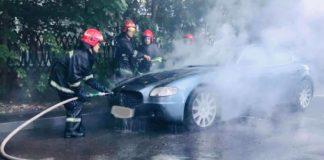 Во Львове загорелся элитный Maserati – видео  - today.ua