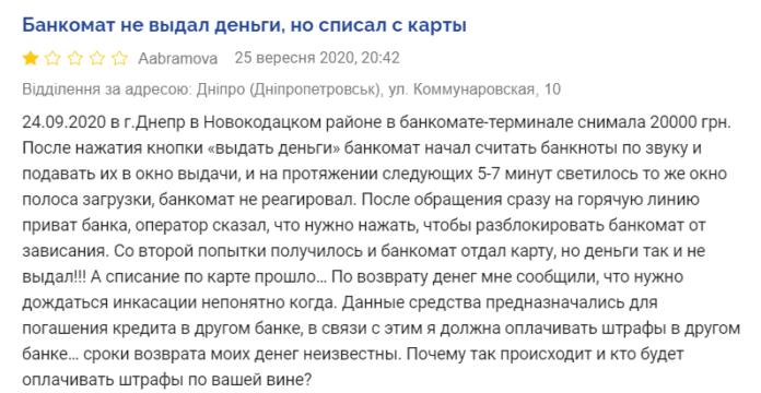 ПриватБанк списує гроші з карток клієнтів, але не видає кошти: українці б'ють на сполох