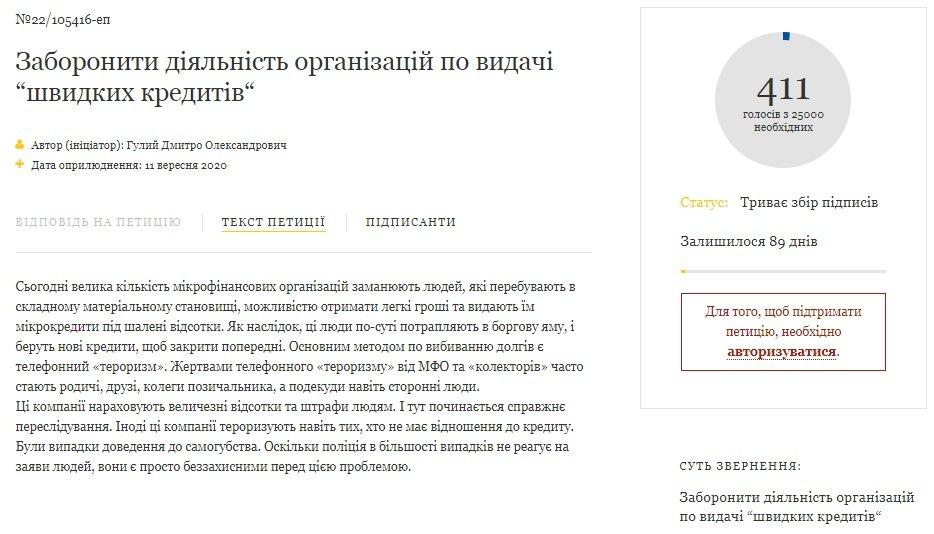 """В Україні можуть заборонити видачу """"швидких кредитів"""": петиція на сайті президента набирає голоси"""