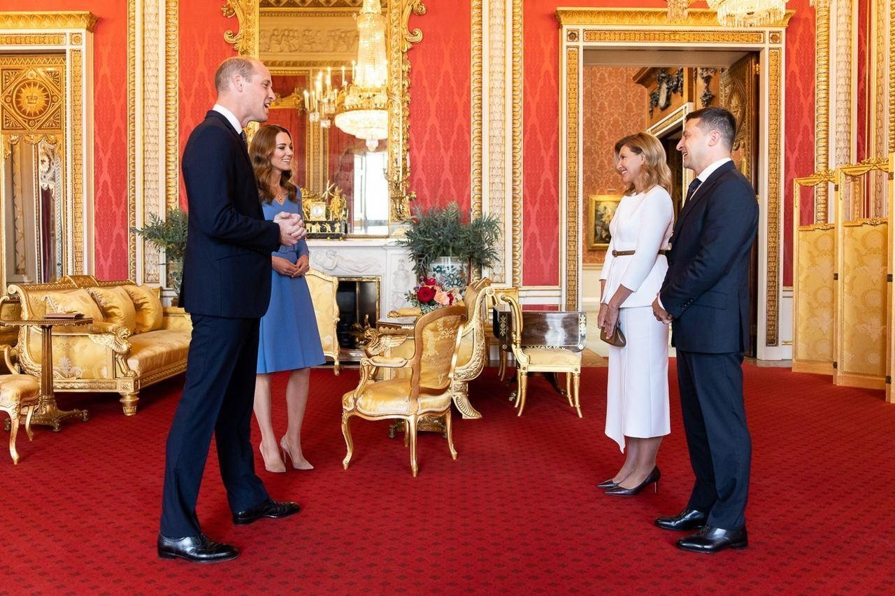 Президент и первая леди Украины провели встречу с принцем Уильямом и Кейт Миддлтон