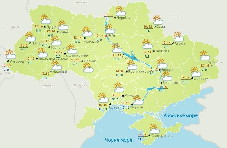 Два дня природной аномалии: прогноз погоды до конца недели от Укргидрометцентра