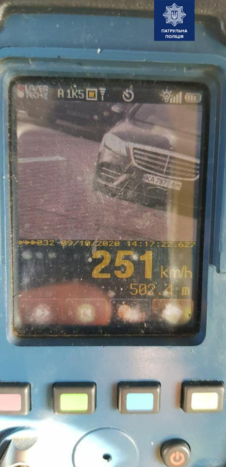 На одесской трассе установили рекорд превышения скорости: 251 км/ч