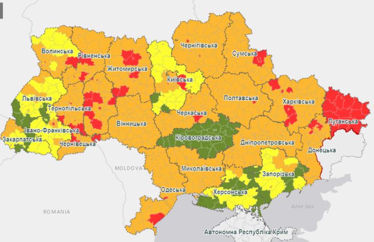 """В Україні розширилася """"червона"""" карантинна зона: які обмеження вступили в дію 19 жовтня"""