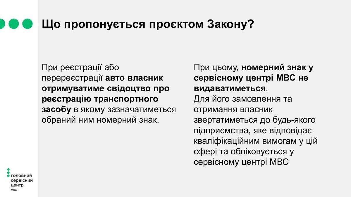 """Украинцы будут получать автомобильные номера у """"частников"""""""