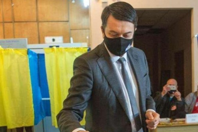 Спікер Верховної Ради Дмитро Разумков не відповів на п'ять запитань президента