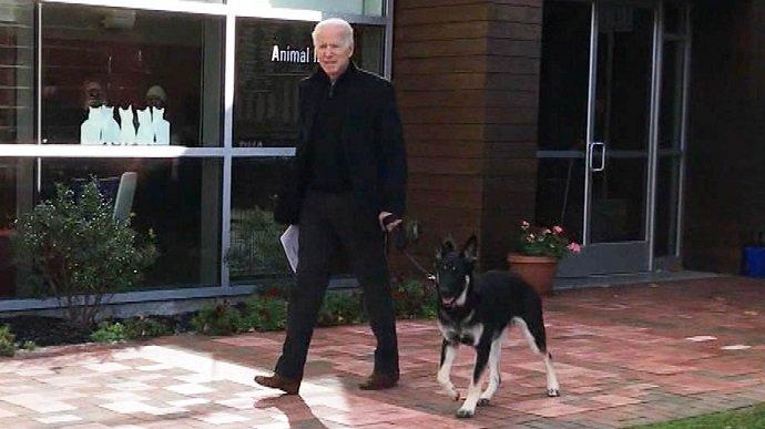 Джо Байден зламав ногу, граючи зі своїм собакою